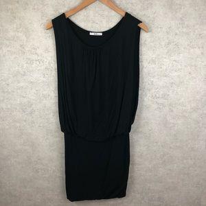 Sisi black jersey banded mini Dress
